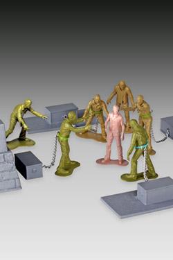 Imagen de The Walking Dead Set Woodbury Arena Survivor con Minifiguras