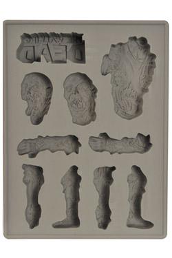 Imagen de The Walking Dead Forma de Silicona Logo & Zombie Body Parts