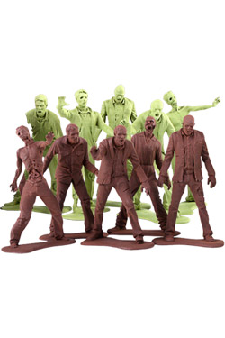Imagen de The Walking Dead Pack de 10 Minifiguras Army Men Zombies 5 cm