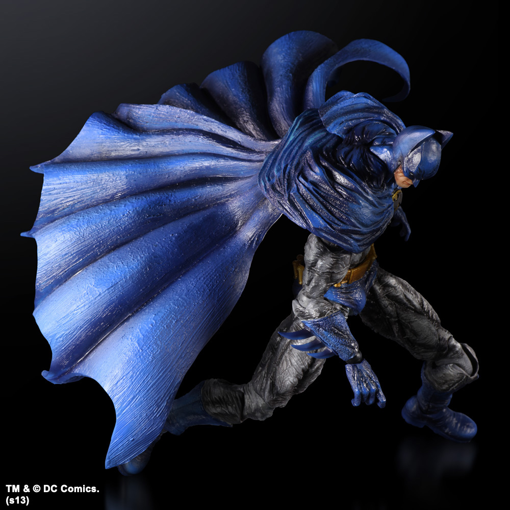 Imagen de Batman Arkham City Play Arts Kai Figura Batman 1970s Batsuit Skin