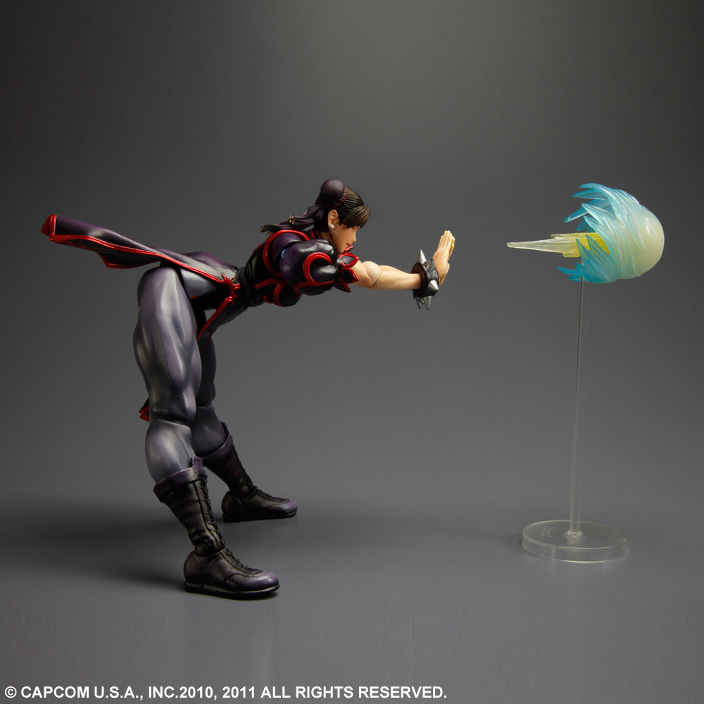 Imagen de Super Street Fighter IV Play Arts Kai Vol. 1 Figura Chun-Li Black Ver. Exclusive