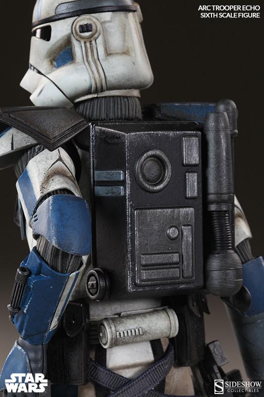 Imagen de Star Wars The Clone Wars Figura Arc Clone Trooper Echo Phase II Armor