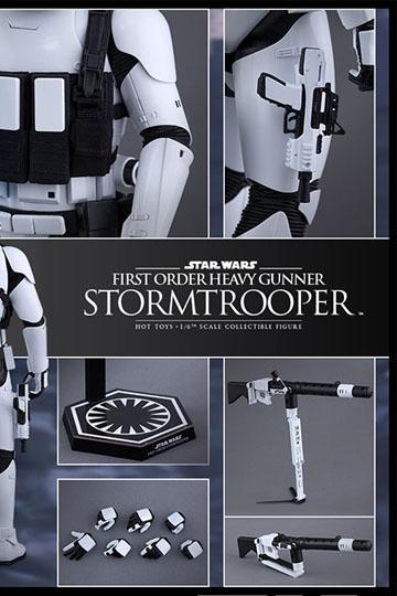Imagen de Star Wars Episode VII Figura Movie Masterpiece 1/6 First Order Heavy Gunner Stormtrooper 30 cm