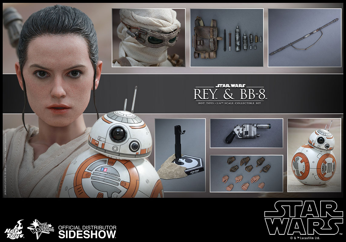 Imagen de Star Wars Episode VII Pack de 2 Figuras Movie Masterpiece 1/6 Rey & BB-8