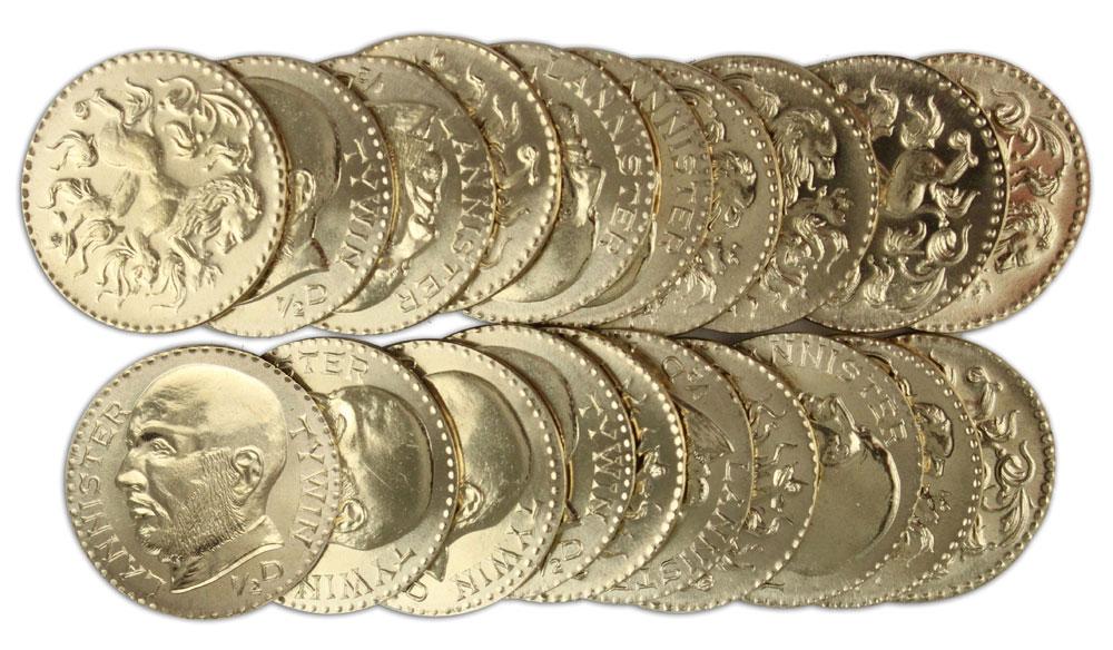 Imagen de   Juego de Tronos Set de Monedas Tywin Lannister Golden Half-Dragons