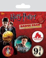 Imagen de Harry Potter Pack 5 Chapas Gryffindor