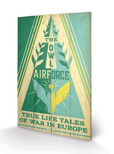 Imagen de Fantastic Beasts (Owl Airforce) Wood Print