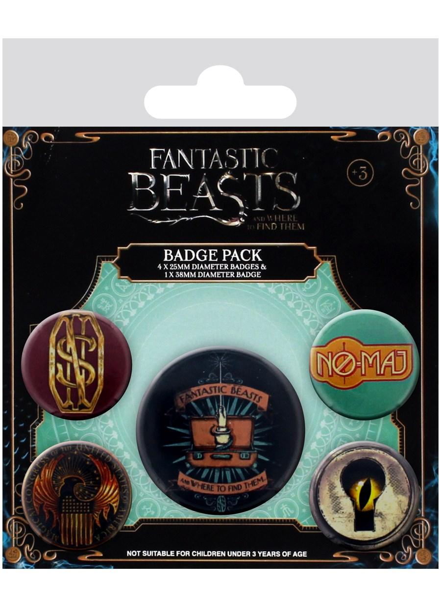 Imagen de Fantastic Beasts Badge Pack