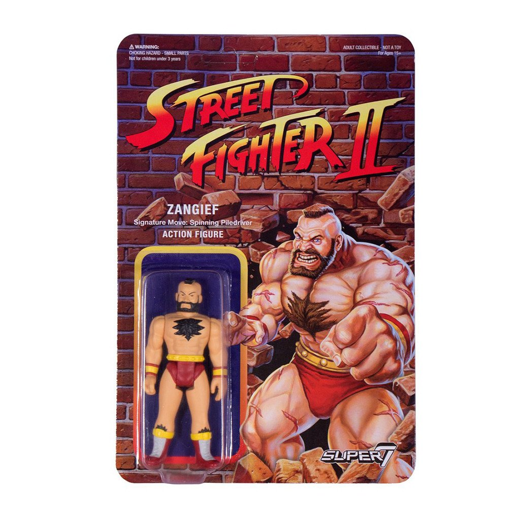 Imagen de Street Fighter II ReAction Figura Zangief 10 cm