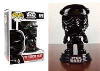 Imagen de Star Wars POP! Vinyl Cabezón Tie Fighter Pilot Black (Chrome) 9 cm