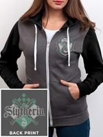 Imagen de Sudadera Slytherin con cremallera y capucha ( CHICA ) TALLA L