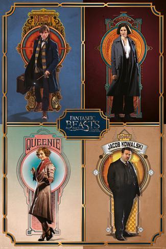 Imagen de Animales Fantásticos Poster Key Cast