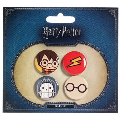 Imagen de Harry Potter Set de Chapas Chibis