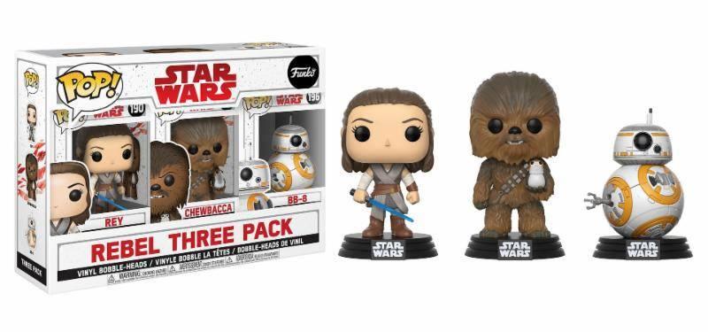 Imagen de Star Wars Episode VIII Pack de 3 Figuras POP! Vinyl Rebel 9 cm