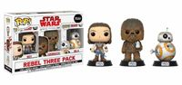 Imagen de Star Wars Episode VIII Pack de 3 Figuras POP! Vinyl Rebel 9 cm