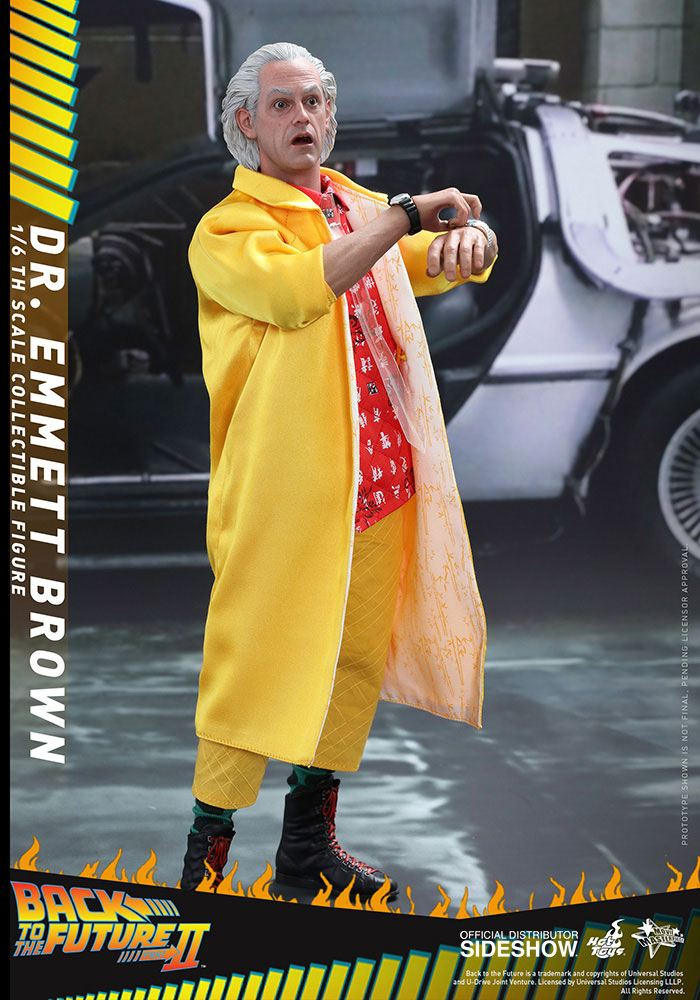 Imagen de Regreso al Futuro II Figura Movie Masterpiece 1/6 Dr Emmett Brown 30 cm