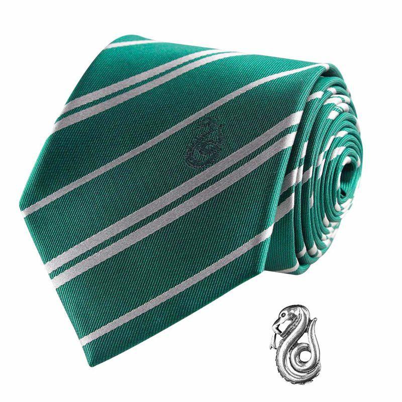 Imagen de Harry Potter Set Corbata y Pin Slytherin