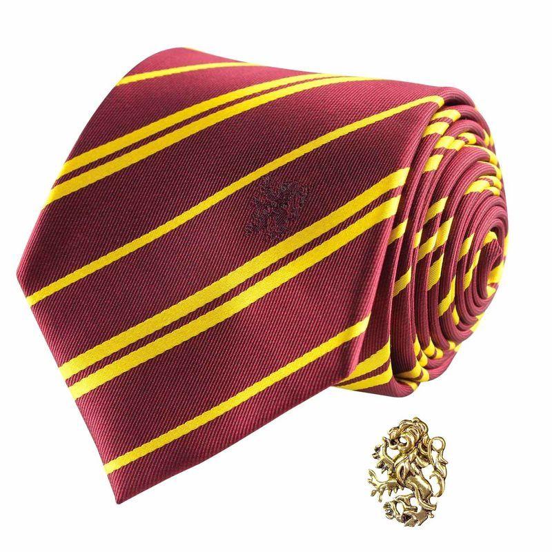 Imagen de Harry Potter Set Corbata y Pin Gryffindor