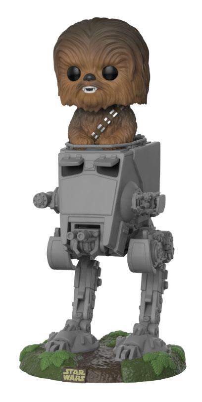 Imagen de Star Wars POP! Deluxe Vinyl Figura Chewbacca with AT-ST 10 cm