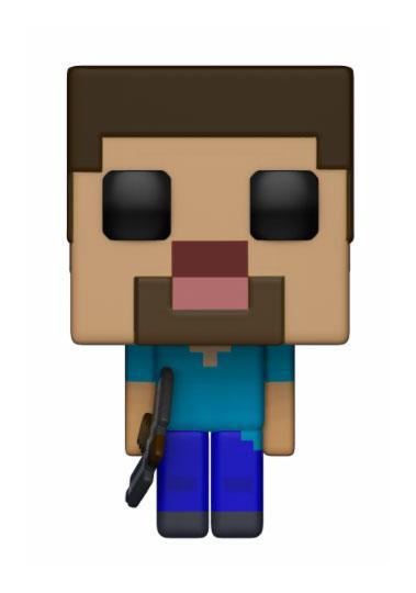 Imagen de Minecraft Figura POP! Games Vinyl Steve 9 cm