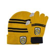 Imagen de Harry Potter Set Beanie and Gloves for Kids Hufflepuf