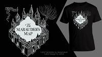 Imagen de Harry Potter Camiseta Mapa Merodeador Unisex Talla M