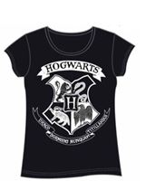 Imagen de Harry Potter Camiseta Chica Hogwarts Crest Negra Talla M